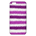 Metallic Pink Glitter Stripes iPhone 6 Plus/6S Plus TPU Case Front