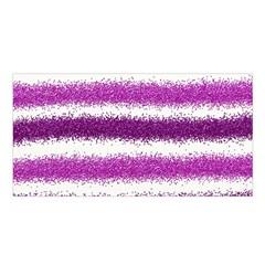 Metallic Pink Glitter Stripes Satin Shawl