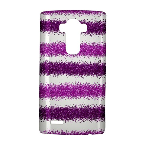 Metallic Pink Glitter Stripes LG G4 Hardshell Case