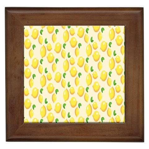 Pattern Template Lemons Yellow Framed Tiles
