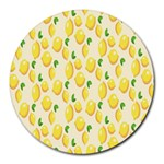 Pattern Template Lemons Yellow Round Mousepads Front