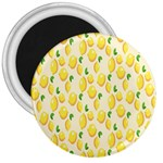 Pattern Template Lemons Yellow 3  Magnets Front