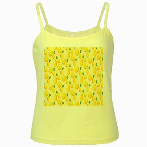 Pattern Template Lemons Yellow Yellow Spaghetti Tank