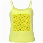 Pattern Template Lemons Yellow Yellow Spaghetti Tank Front