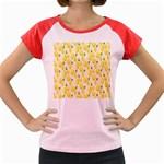 Pattern Template Lemons Yellow Women s Cap Sleeve T-Shirt Front