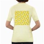 Pattern Template Lemons Yellow Women s Yellow T-Shirt Back