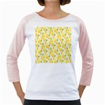 Pattern Template Lemons Yellow Girly Raglans Front