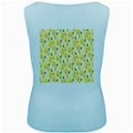 Pattern Template Lemons Yellow Women s Baby Blue Tank Top Back