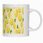 Pattern Template Lemons Yellow White Mugs Right
