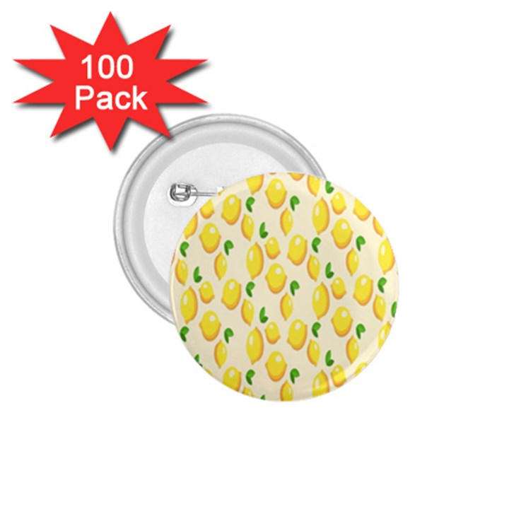 Pattern Template Lemons Yellow 1.75  Buttons (100 pack)