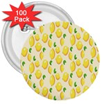 Pattern Template Lemons Yellow 3  Buttons (100 pack)  Front