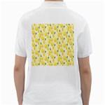 Pattern Template Lemons Yellow Golf Shirts Back