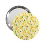 Pattern Template Lemons Yellow 2.25  Handbag Mirrors Front