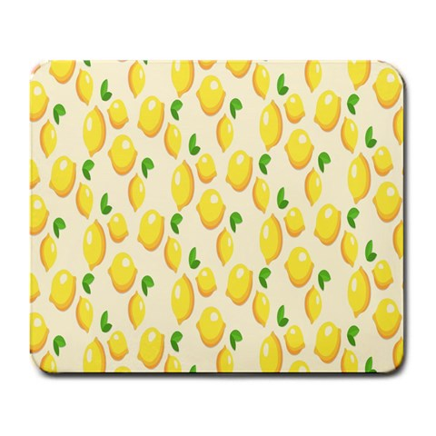 Pattern Template Lemons Yellow Large Mousepads