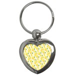 Pattern Template Lemons Yellow Key Chains (Heart)  Front
