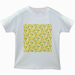 Pattern Template Lemons Yellow Kids White T-Shirts
