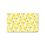 Pattern Template Lemons Yellow Magnet (Name Card) Front