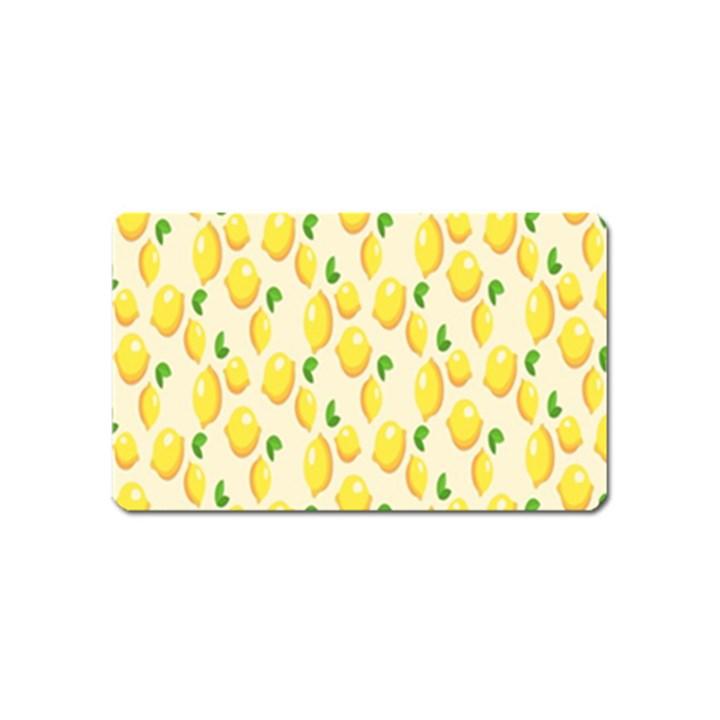 Pattern Template Lemons Yellow Magnet (Name Card)