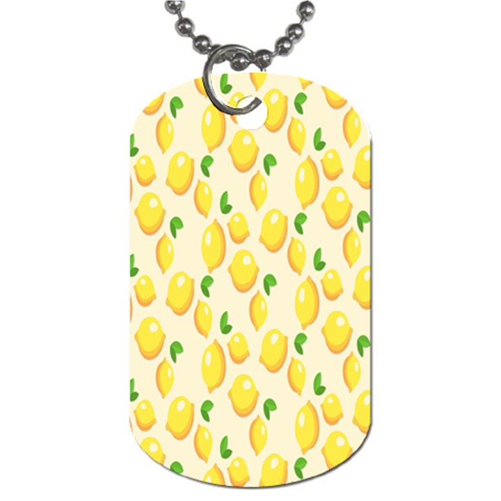 Pattern Template Lemons Yellow Dog Tag (One Side)