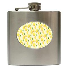 Pattern Template Lemons Yellow Hip Flask (6 oz)