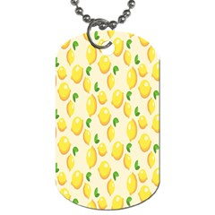 Pattern Template Lemons Yellow Dog Tag (Two Sides)