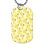 Pattern Template Lemons Yellow Dog Tag (Two Sides) Back