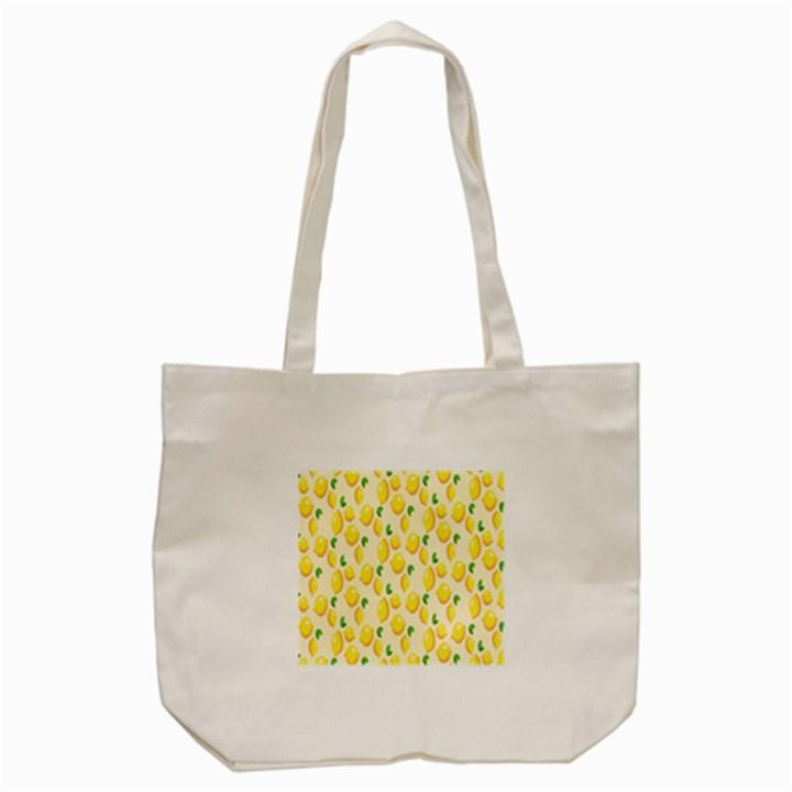Pattern Template Lemons Yellow Tote Bag (Cream)