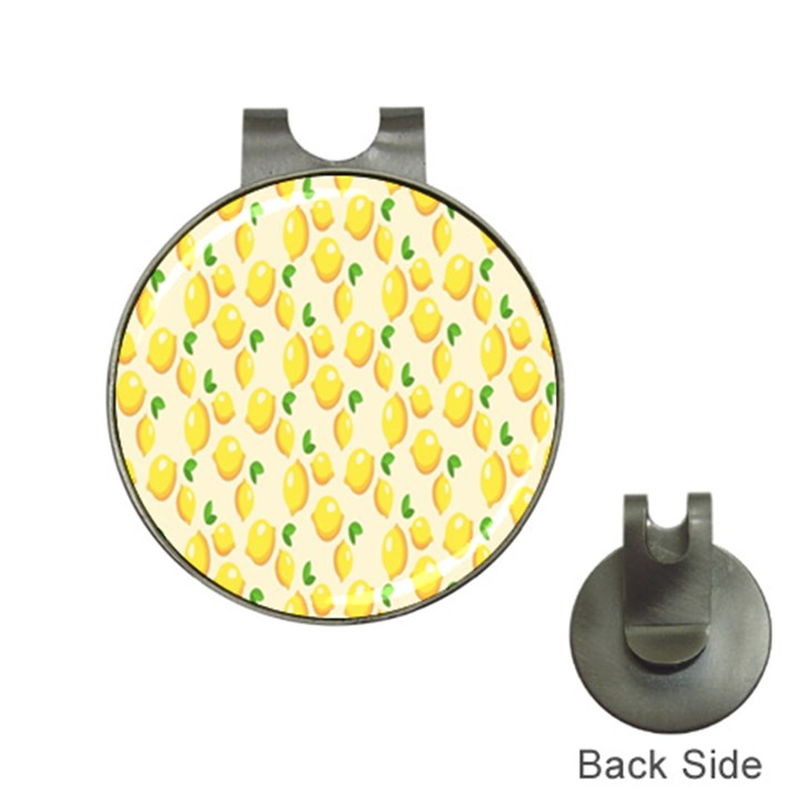Pattern Template Lemons Yellow Hat Clips with Golf Markers