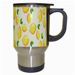 Pattern Template Lemons Yellow Travel Mugs (White) Right