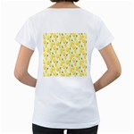 Pattern Template Lemons Yellow Women s Loose-Fit T-Shirt (White) Back