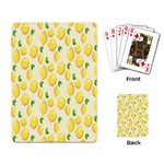 Pattern Template Lemons Yellow Playing Card Back