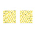 Pattern Template Lemons Yellow Cufflinks (Square) Front