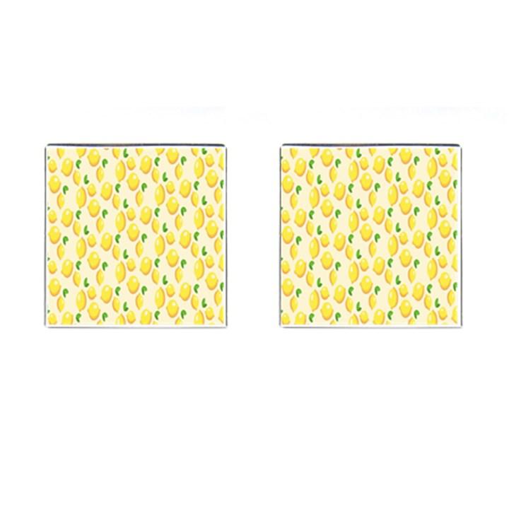 Pattern Template Lemons Yellow Cufflinks (Square)