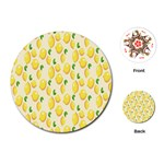 Pattern Template Lemons Yellow Playing Cards (Round)  Front