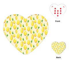 Pattern Template Lemons Yellow Playing Cards (Heart)