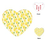 Pattern Template Lemons Yellow Playing Cards (Heart)  Front