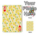 Pattern Template Lemons Yellow Playing Cards 54 Designs  Front - Heart10
