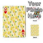 Pattern Template Lemons Yellow Playing Cards 54 Designs  Front - HeartQ