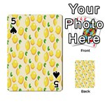 Pattern Template Lemons Yellow Playing Cards 54 Designs  Front - Spade5