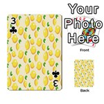 Pattern Template Lemons Yellow Playing Cards 54 Designs  Front - Club3