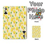 Pattern Template Lemons Yellow Playing Cards 54 Designs  Front - Club9