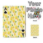 Pattern Template Lemons Yellow Playing Cards 54 Designs  Front - ClubA