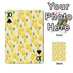 Pattern Template Lemons Yellow Playing Cards 54 Designs  Front - Spade10