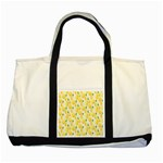 Pattern Template Lemons Yellow Two Tone Tote Bag Front