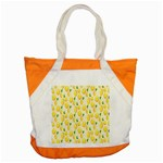 Pattern Template Lemons Yellow Accent Tote Bag Front
