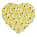 Pattern Template Lemons Yellow Heart Ornament (2 Sides) Back