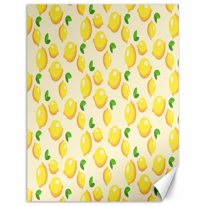 Pattern Template Lemons Yellow Canvas 12  x 16