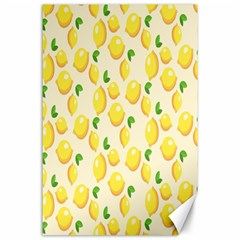 Pattern Template Lemons Yellow Canvas 24  x 36