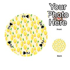 Pattern Template Lemons Yellow Playing Cards 54 (Round)