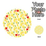 Pattern Template Lemons Yellow Playing Cards 54 (Round)  Front - Heart5
